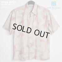 アロハシャツ|トリリチャード(TORI RICHARD)|tori-6775 BLOWN AWAY(ブローン・アウェイ)|コーラル|メンズ|コットン・ローン100%(Cotton Lawn 100%)|ノーマル襟(レギュラーカラー)|フルオープン|半袖